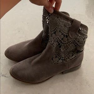 Lace Suede Cowgirl Boots